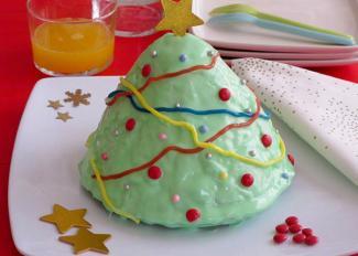Receta de tarta con forma de árbol de Navidad