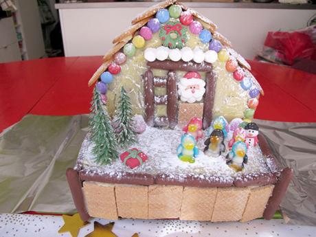 Receta de tarta de la casa de Papá Noel para Navidad