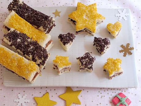 Receta de sándwiches de chocolate para Navidad