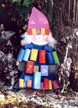 Calendario de Adviento duende: manualidad para niños