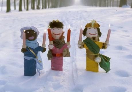 Candelabros de Reyes Magos para Navidad: manualidad para niños