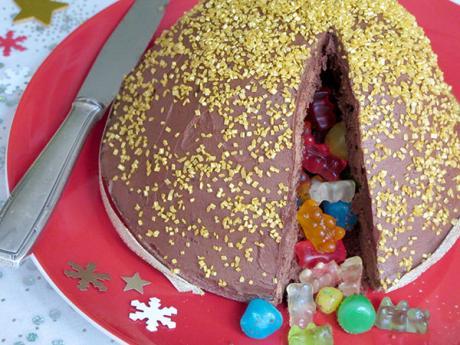Receta de cúpula de chocolate llena de sorpresas