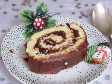 Receta de tronco de Navidad de chocolate