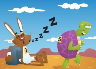 La liebre y la tortuga. Fábula con moraleja para niños