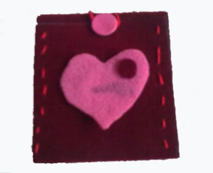 Felt cover for MP3 or mobile phone