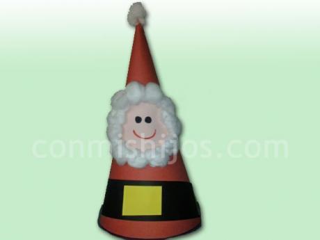 Gorro de Papá Noel. Manualidades de Navidad