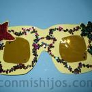 Gafas de estrella. Manualidad de Carnaval para niños