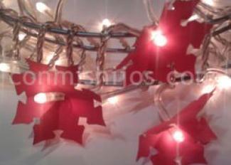 Guirnalda navideña de luces. Manualidades para niños
