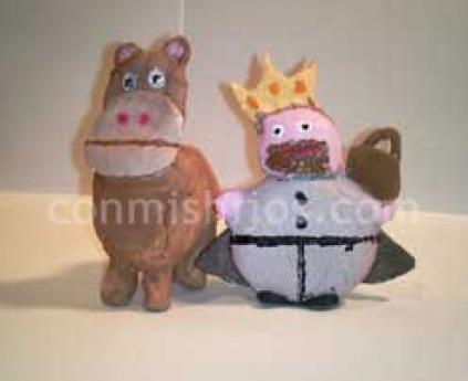 Figuras para Belén de plastilina. Gaspar con su camello