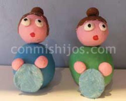 Figuritas de lavanderas para el Belén de los niños