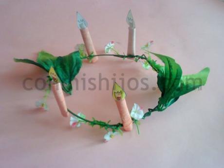 Corona de hada del bosque. Manualidades infantiles de Carnaval