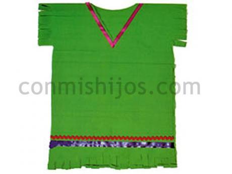 Disfraz de indio, manualidad de Carnaval para niños