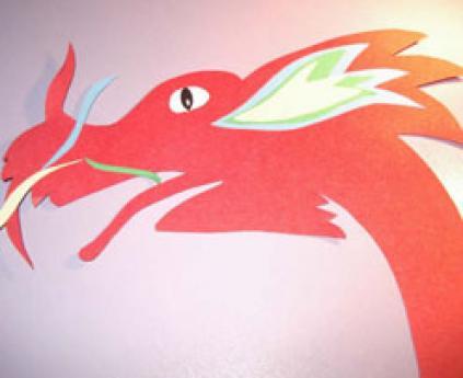 Dragón chino de papel, manualidad infantil para decorar