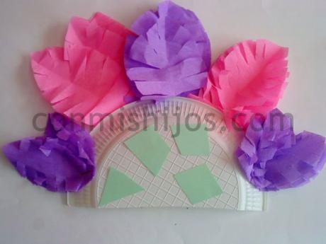 Corona de princesa inca. Manualidad de Carnaval para niños