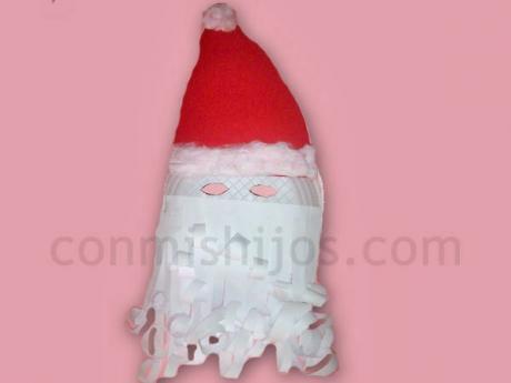 Máscaras y caretas de Navidad para niños. Máscara de Papá Noel