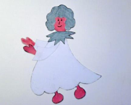 Angelito de Navidad. Manualidades de papel para niños