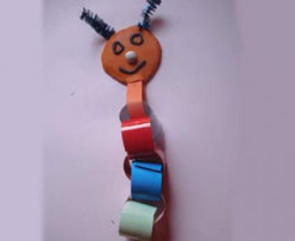 Cardboard worm