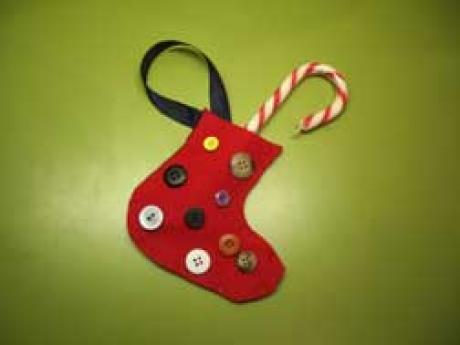 Calcet n para regalos de navidad manualidades para ni os - Adornos de navidad manualidades para ninos ...