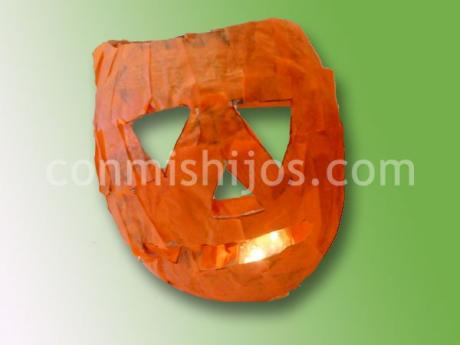 Calabaza de Halloween. Manualidades para niños