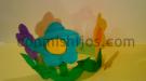 Corona de flores. Manualidad de Carnaval para niños