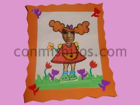 Caricatura de niños. Manualidades de cartulina para niños