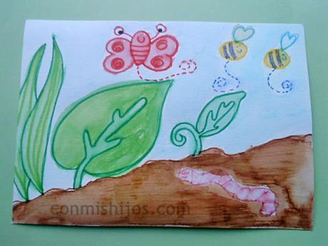 Bichitos del jardín. Dibujos paso a paso para niños pequeños