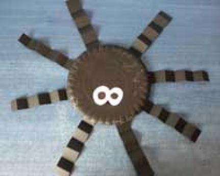 Araña de cartón