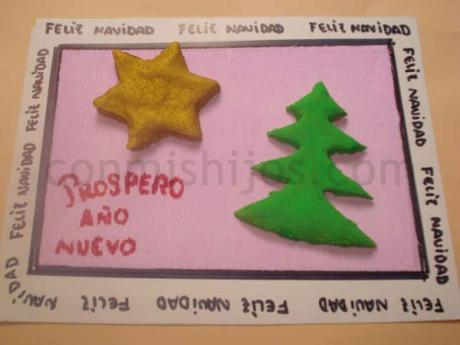 tarjeta de navidad para nios infantiles