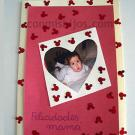 Tarjeta para el día de la madre. Manualidades con cartulina para niños
