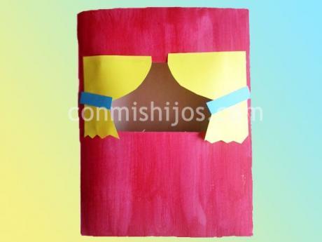 Manualidad de teatrillo con caja de cartón