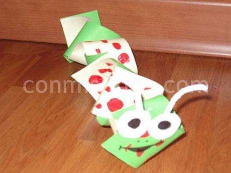 Serpiente de papel. Manualidades para niños