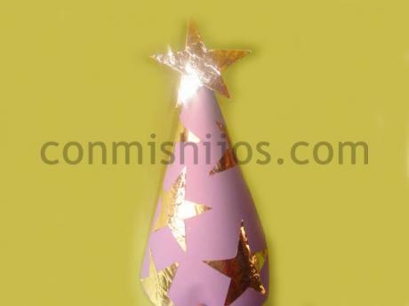 Sombrero de hada. Manualidad de Carnaval para niños