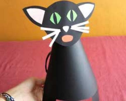 Sombrero de gato negro