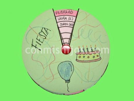 Calendario de cumpleaños. Una manualidad útil para los niños
