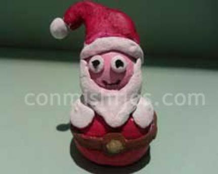 Papá Noel de pasta de sal. Manualidades de Navidad para niños