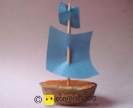 Nut shell boat