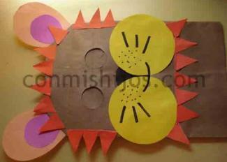 Máscara de león. Manualidad de Carnaval