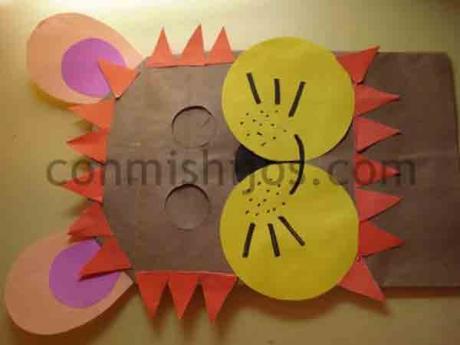 Máscara de león. Manualidad de Carnaval para niños