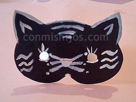 Máscara de gato. Manualidades de disfraces para niños