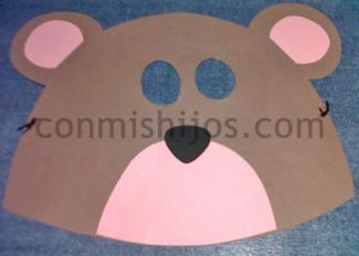 Antifaz de oso para Carnaval: manualidad para niños