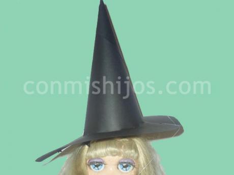 Sombrero de bruja. Manualidades de disfraces para niños