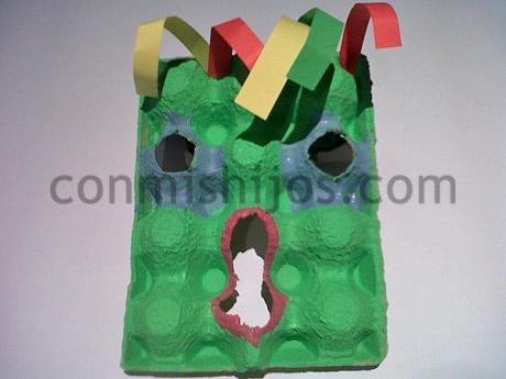 Máscara de monstruo. Manualidades de disfraces para niños