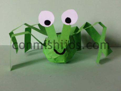 Cangrejo verde. Manualidad de Carnaval para niños