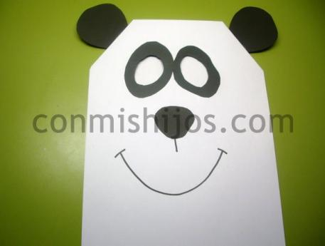 de oso panda Manualidad de Carnaval para nios