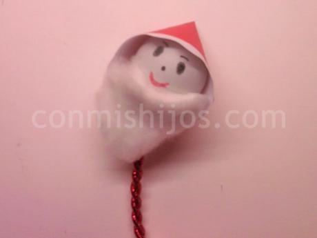 Papá Noel para el árbol de Navidad. Manualidades infantiles
