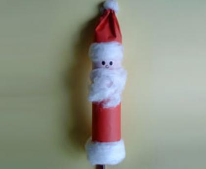Papá Noel de cartón para el árbol. Manualidades de Navidad