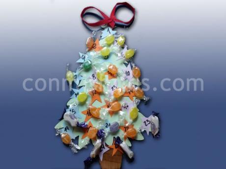 Rbol calendario de adviento de navidad manualidades para - Manualidades de navidad para ninos paso a paso ...