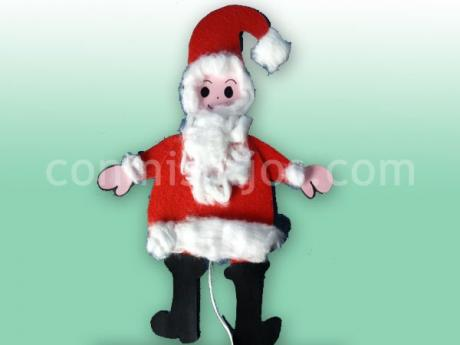 Marioneta de Papá Noel. Manualidades de Navidad