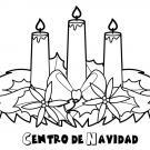 Centro de Navidad. Dibujo para los niños