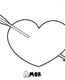 Dibujo de corazón para imprimir y colorear para los niños